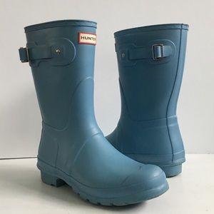 Hunter Short Original Blue Rain Boots